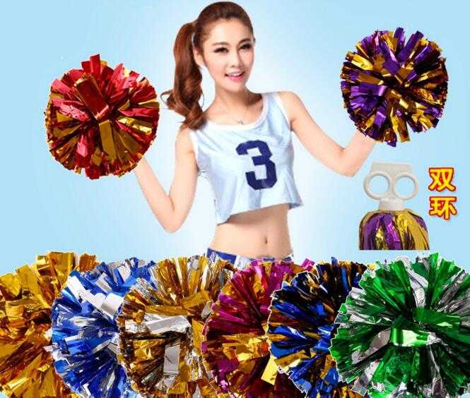 Gold All Star first single paragraph cheerleading pom pon Cheerleading cheer supplies(China (Mainland))