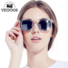 VEGOOS Real Polarized Vintage Women Sunglasses Flash Mirrored Lens Designer Brand Orignal Retro Round Sunglass Sun Glasses #9059