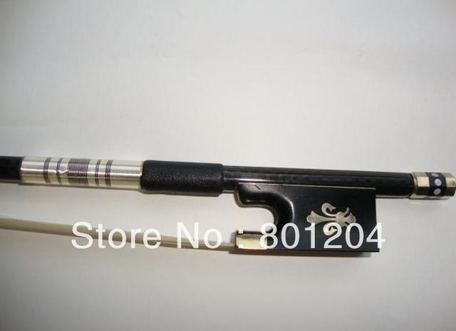 2pcs violin carbon fiber bow with 10 hanks of white violin bow hair 80cm in length