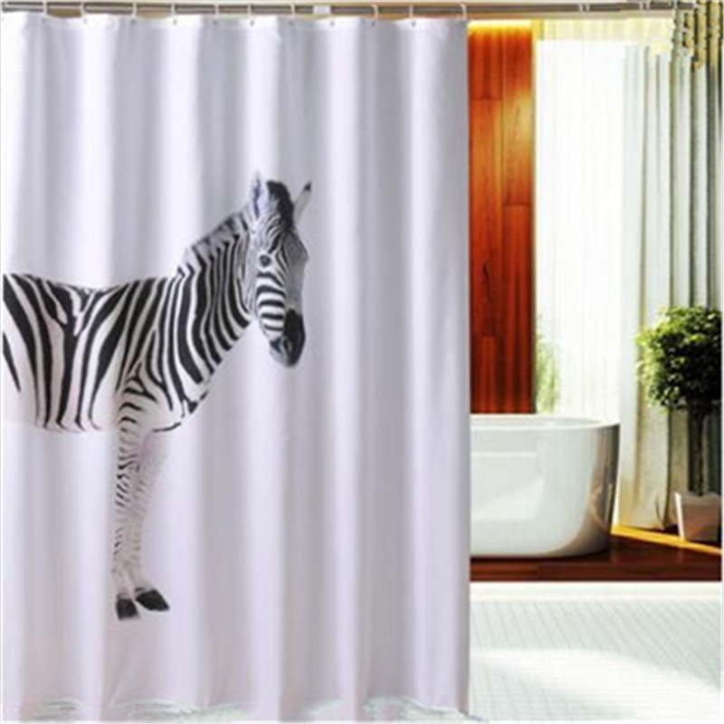 bathroom polyester bath curtain horse shower curtains with hook china