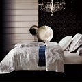 Grey jacquard duvet cover set 100 cotton queen king size bedding set for adults luxury satin