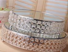 Crystal metal cake stand