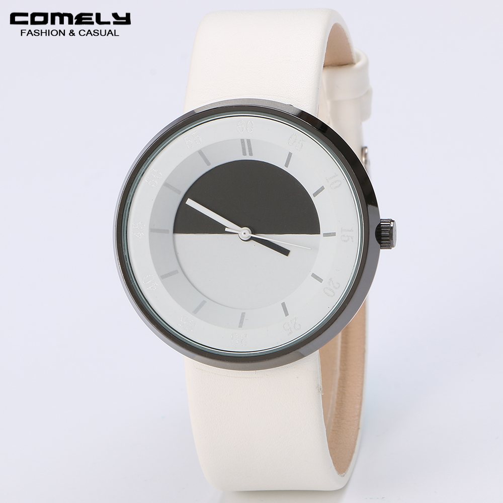 COMELY Men's casual fashion brand watches ladies quartz watch fine watches couple simple gift for lovers of high-quality watch(China (Mainland))