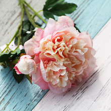 Real touch big Artificial peony bouquet wedding decoration mariage Bridal Bouquet party Christmas home decoration accessories(China (Mainland))