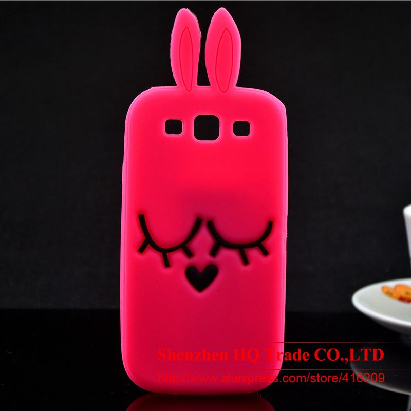 For Samsung Galaxy S3 i9300 Case Shy Rabbit Silicone Rubber Cell phone Cases Covers Phone Case(China (Mainland))