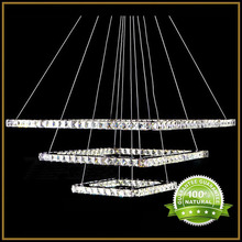 Crystal Pendant Light Lamp with LED Source K9 Crystal And Stainless Steel AC110-240V Ceiling Hanging LED Lights Kingdom Lighting(China (Mainland))