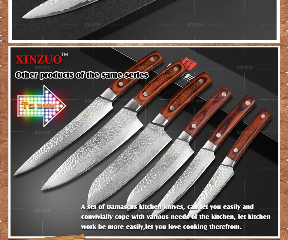 "Buy 2016 NEW 5"" INCHES Multi-purpose knife Damascus kitchen knives utility cutter kitchen tool damascus utility knife FREE SHIPPING cheap"
