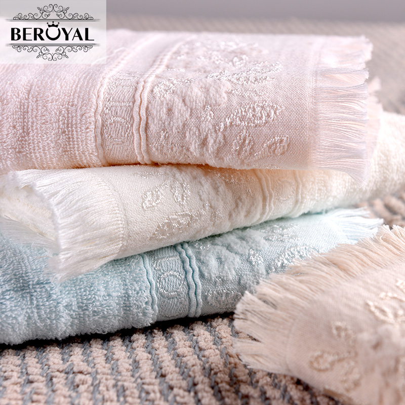 New 2017 Hand Towel - 34*72cm 100% Cotton Towels Solid Embroidered Brand Towel Gift Breathable Quick Dry Towels Bathroom(China (Mainland))