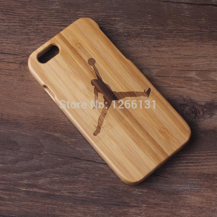 Natural handmade Jordan Pattern wooden wood case True bamboo cover Apple Iphone6 4.7'' Coque iphone 6 - TH-Store store