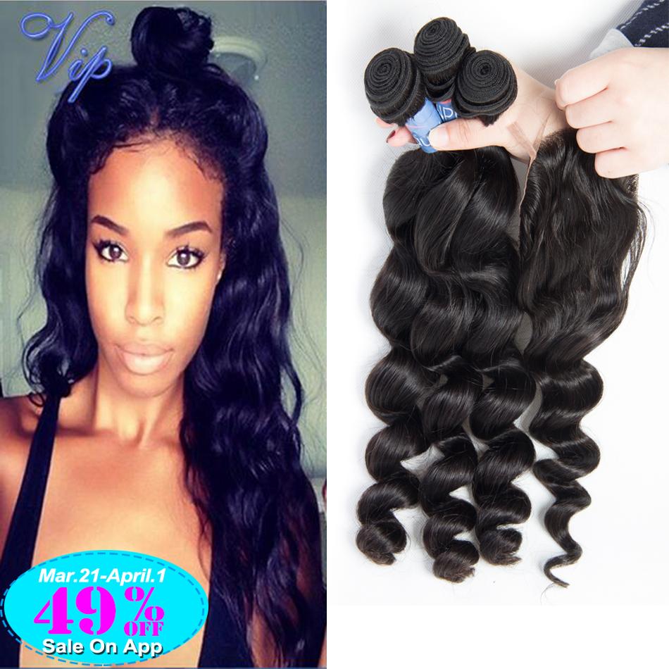 Cheap 6A Peruvian Loose Wave With Closure 5PCS/Lot Peruvian Virgin Hair Lace Closure With Bundles Peruvian Loose Wave Human Hair<br><br>Aliexpress