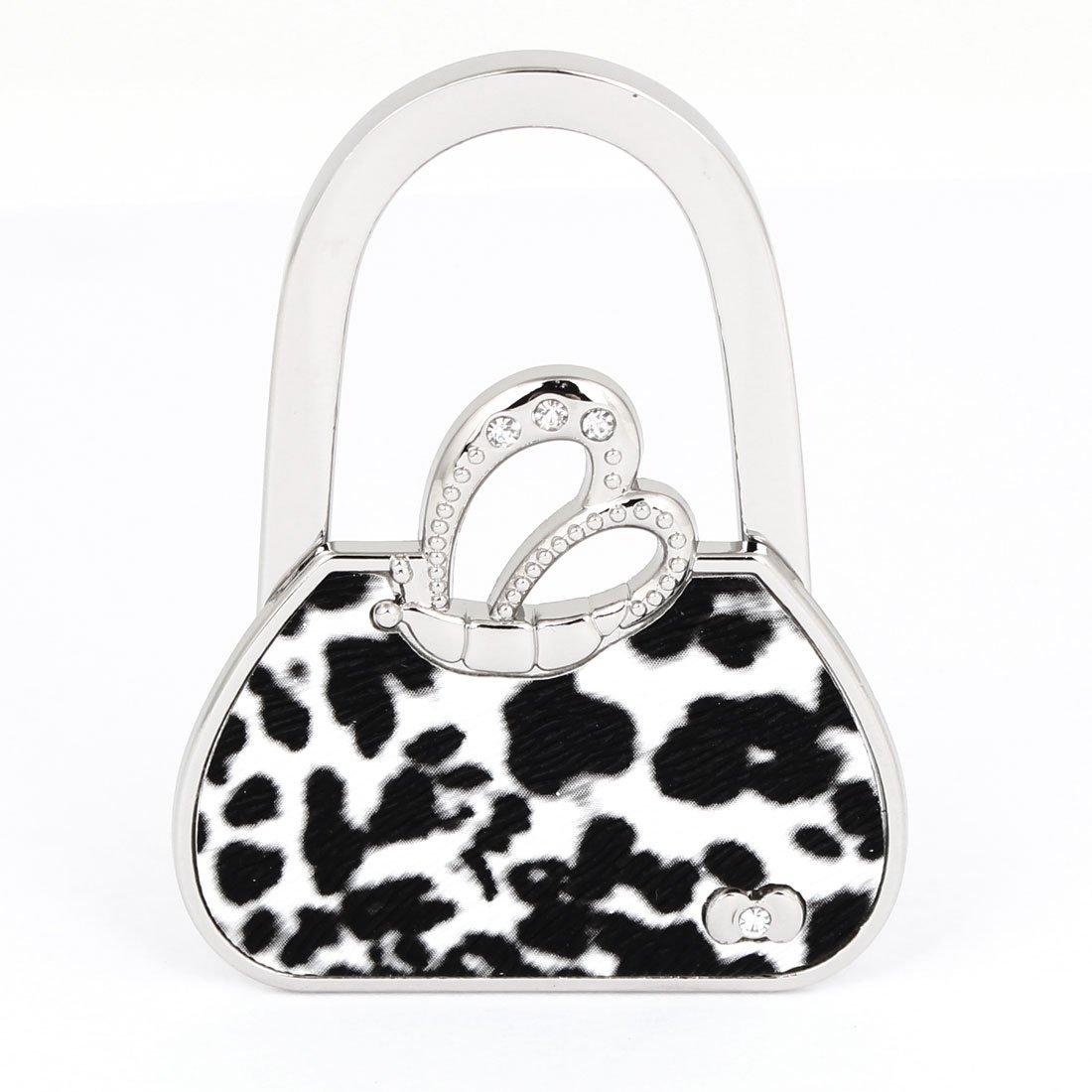 SZS Hot Leopard Print Handbag Style Foldable Table Hook Purse Hanger Holder(China (Mainland))