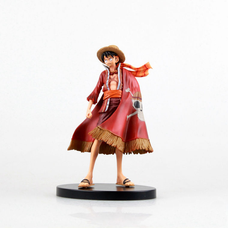 One Piece Japanese Anime Monkey D Luffy Onepiece New World Rubber Man Action Figure Toys Juguete Bonecos 17cm PVC Model 0046(China (Mainland))