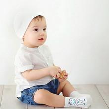 (4 pieces/lot=2pair ) 100% cotton Baby socks newborn floor socks kids cotton short socks girl and boy cute socks(China (Mainland))