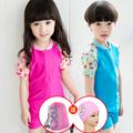 baby swimwear Children Cute Swimwear Boy And Girl Swimsuit Siamese Baby Girls Sunscreen Suit Send Cap