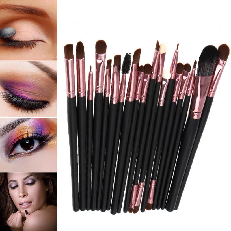 Hot Sale! Professional 20Pcs Makeup Brush Sets Tools Cosmetic Brush Foundation Eyeshadow Eyeliner Lip Brush Make Up Tool 2 Color(China (Mainland))