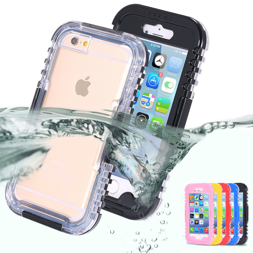 "Waterproof Case Diving Underwater Cover for Apple iPhone 6 4.7"" iPhone6 Mobile Phone Water Proof Shockproof Dustproof Snowproof(China (Mainland))"