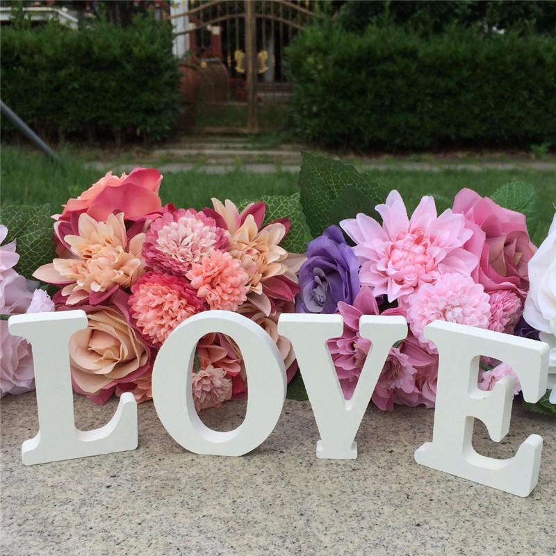 LOVE Letters Wooden Romantic Wedding Decorations Marriage Love Wedding Sign wedding love letter(China (Mainland))