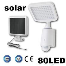 80LED Solar Powered wall light PIR sensor Light Sensitivity Lighting Time Adjustable wall lamp Outdoor motion sensor light(China (Mainland))