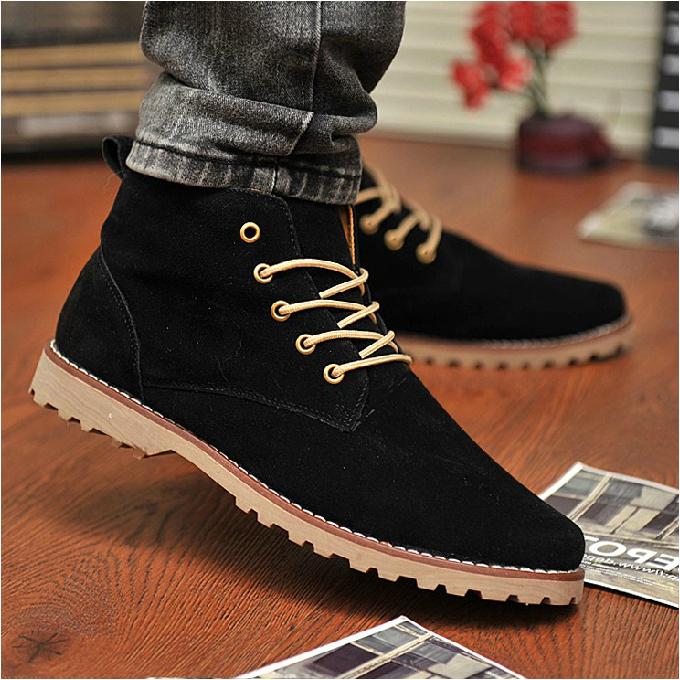 2014 new Nubuck Leather shoes men sneakers autumn men flats korean fashion blue black men Flats