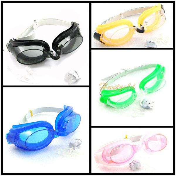 Water Sports Summer Swim Swimming Goggles Set with 2 Earplugs & 1 Nose Clip(China (Mainland))