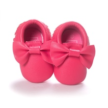 Infant Baby Girl Shoes Casual PU Moccasins Prewalker Anti-Slip Walkers Girl Bowknots Shoes(China (Mainland))