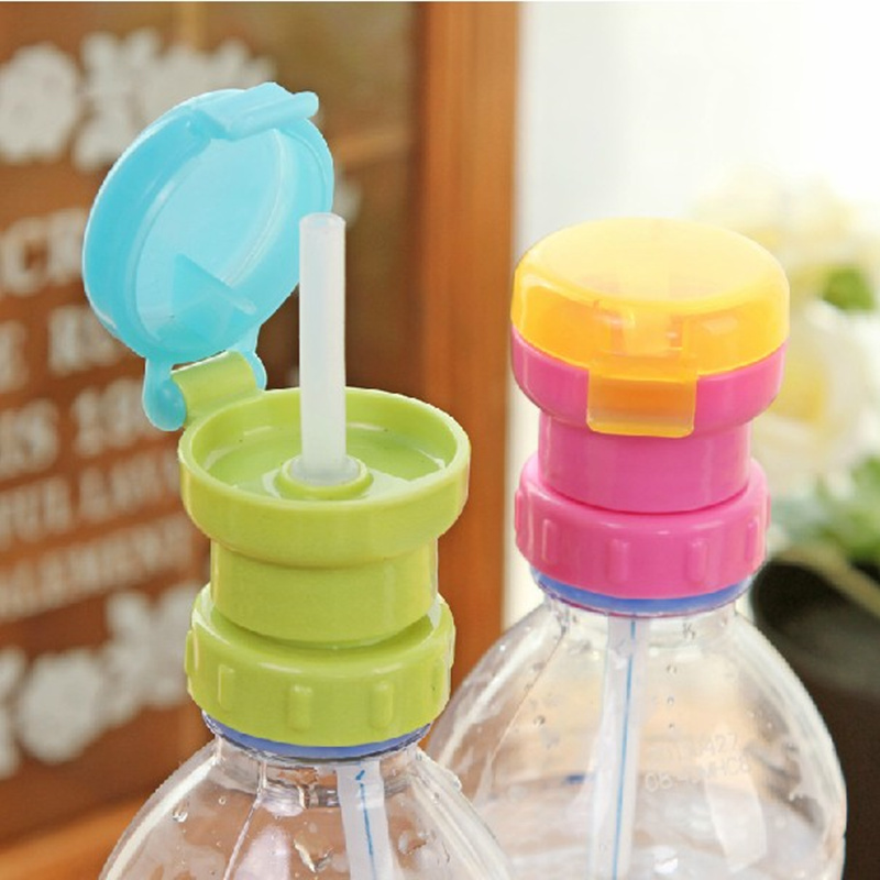 Practical prevent leakage choking cup for Kids Protection cover water drinking straws head with Bottle Cap Straw Cover(China (Mainland))