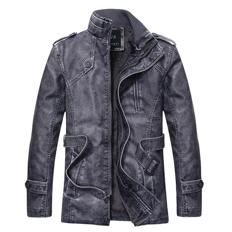 2016 New Arrival Personalized Leather Jackets Name Brand Mens Leather Jackets Cheap Price 3XL Plus Leather Jacket Suede S1707(China (Mainland))