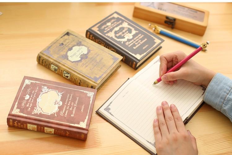 64K Small Pocket Vintage Notebook Handcover Magic Spells Pockets Book Planner Journal Traveler Notepad