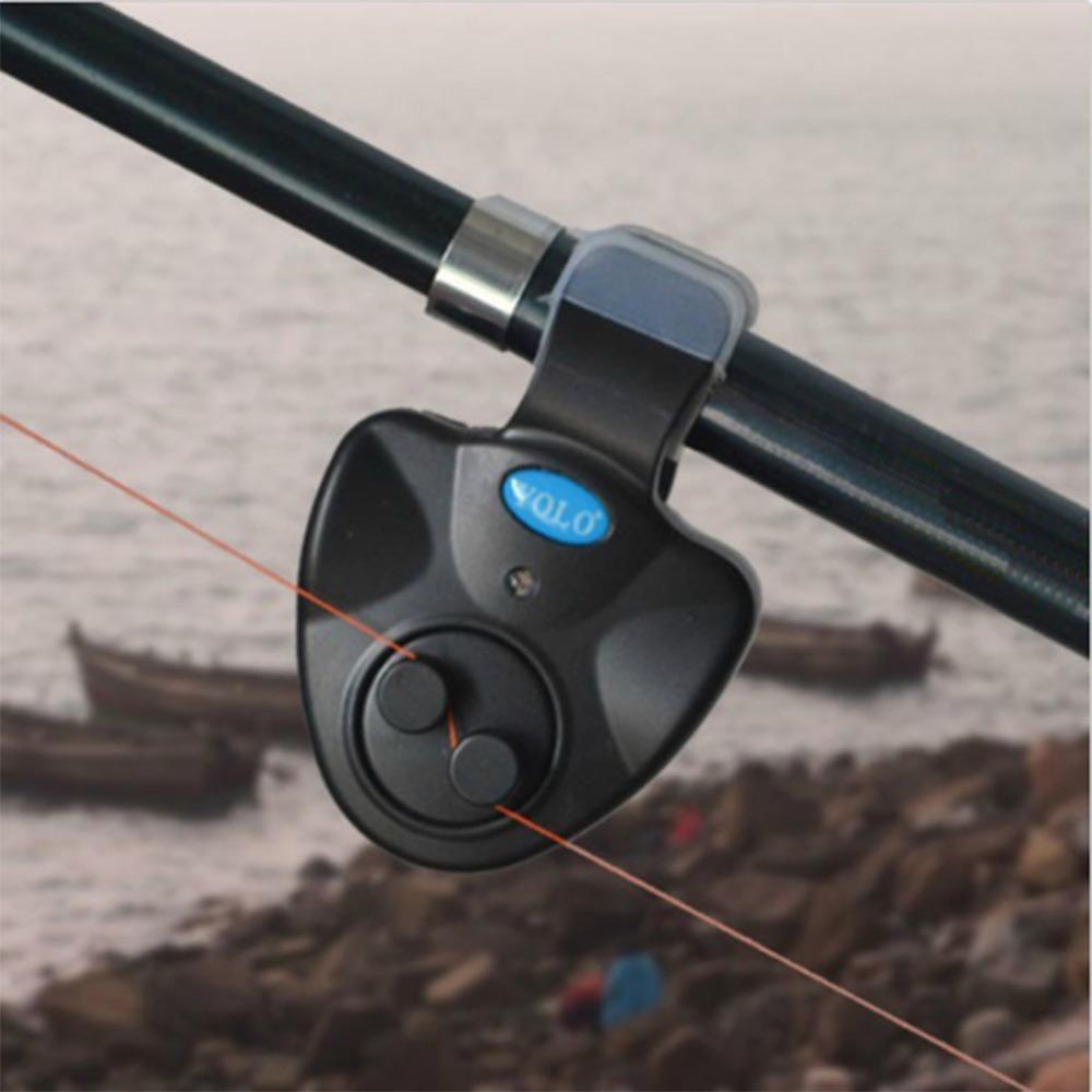 Black small MINI Electronic Wireless ABS Fish Bite Alarm Sound Running LED Sensitive Mat Drop Shipping(China (Mainland))