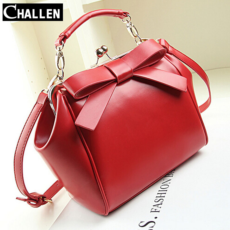 luxury high quality italian leather handbags famous brand bow messenger women bag female shoulder bags for girls designer clutch(China (Mainland))