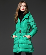 2015 european fashion women new winter thickening warm white duck down parkas long leeve slim Tide style down jacket coats