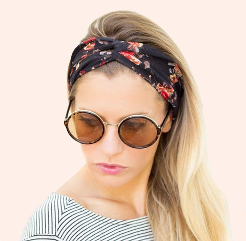 2015 Summer Colorful Flower Printing Ladies Flora Ears Headwrap Creative Women Wide Yoga Headband Stretch Hair Bands Turban Girl(China (Mainland))