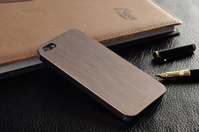 0.3mm Thin Brushed Aluminum case for iphone 5 5G Hard Luxury, Metal back cover for iphone 5 5G,free shipping 7 colors in stock