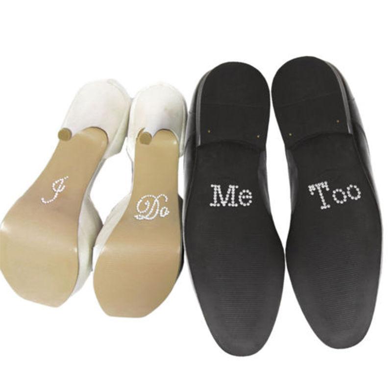 Гаджет  I Do & Me Too Set Wedding Accessory Bridal and Groom Shoes Sticker Wedding Decor #31574 None Обувь
