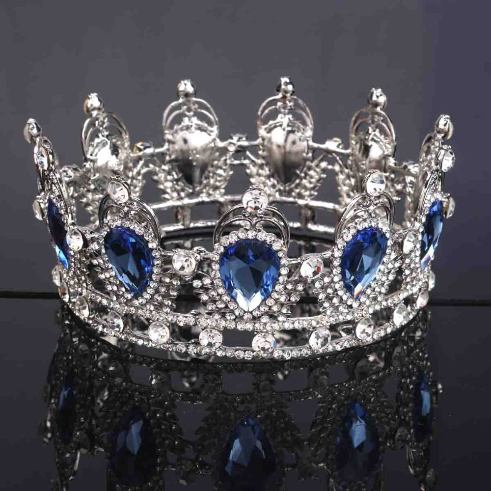 2016 Wedding Bridal Bridesmaid Flower Girl White Gold Plated Crystal Quinceanera Kings Queens Tiaras And Crowns Pageant Headband(China (Mainland))