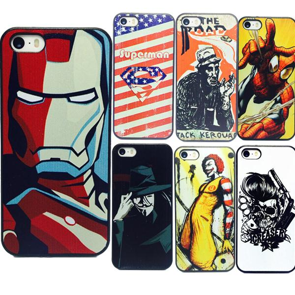 New Fashion Iron Man superman printed Case Accessories Cover for Lg g3 nexus5 Sony xperia Z2 Z3 Z4 HTC one M7 M8 ipod touch 4 5(China (Mainland))