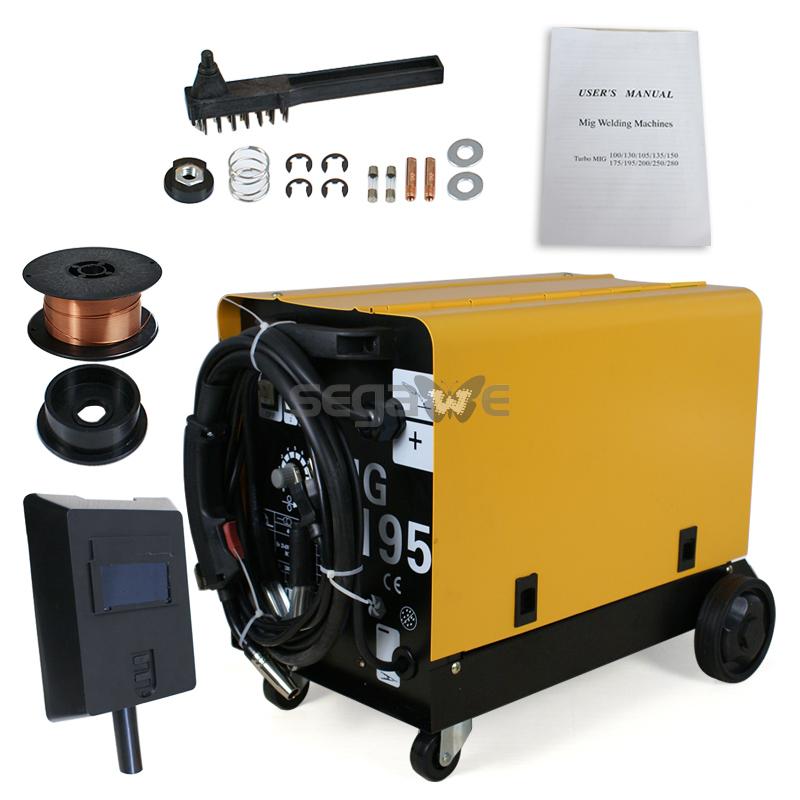 Professional No-Gas Mig Welder MIG-195 Flux Core Auto Wire Welding Machine 220v AMP DUAL Gas/No Gas Welder D1-3020B(China (Mainland))