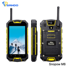 Original Snopow M8 IP68 4.5''Android 4.2 MTK6589 Quad Core 1.2GHz Waterproof Shockproof Smartphone 1GB 4G 3000mAh 8MP Phone(China (Mainland))