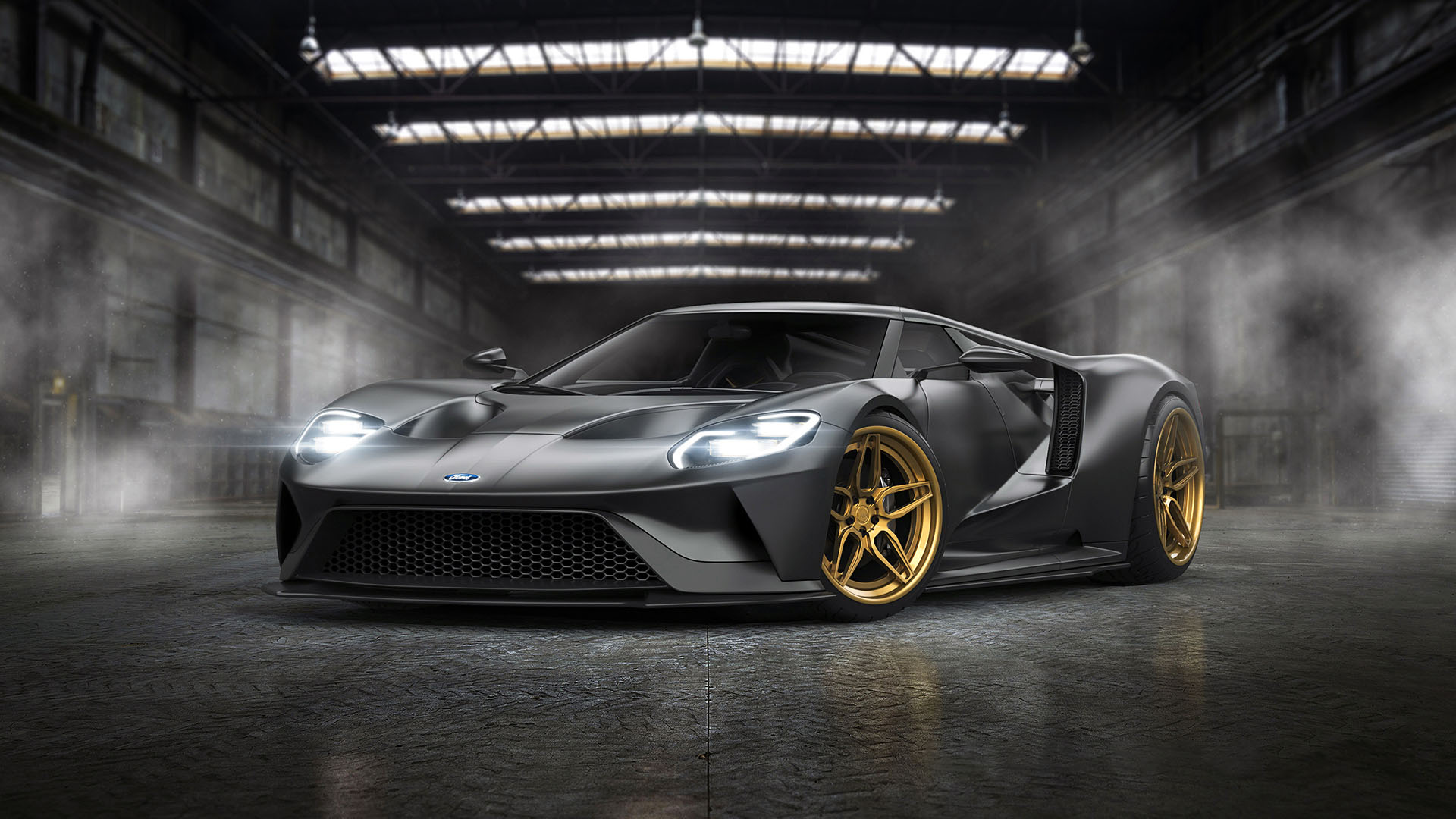 ford gt adv 1 wheels grey color tuning by gurnade 12x18 20x30 24x36 32x48 Inch poster Print 1(China (Mainland))