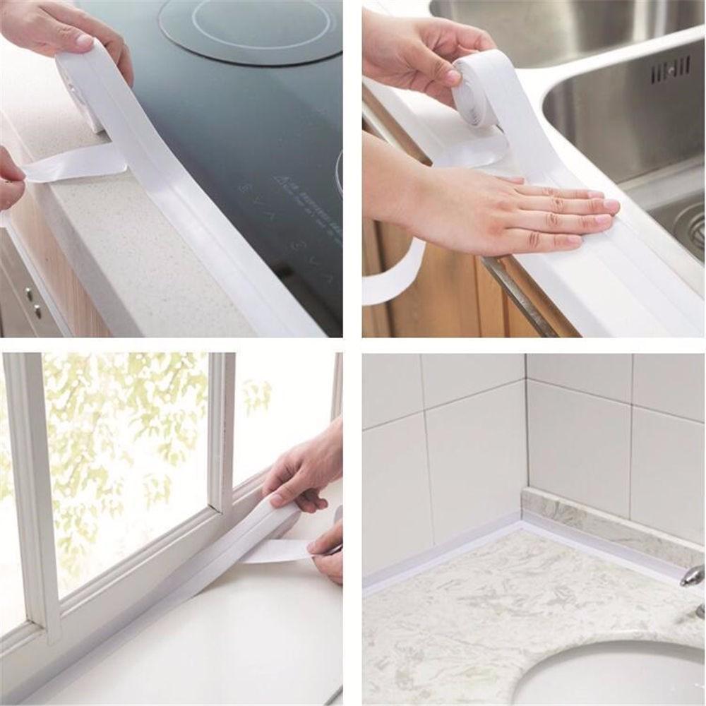 Sink Tile Crack Repair Mildew Tape Waterproof Caulk Strip Bathroom Kitchen 1pc