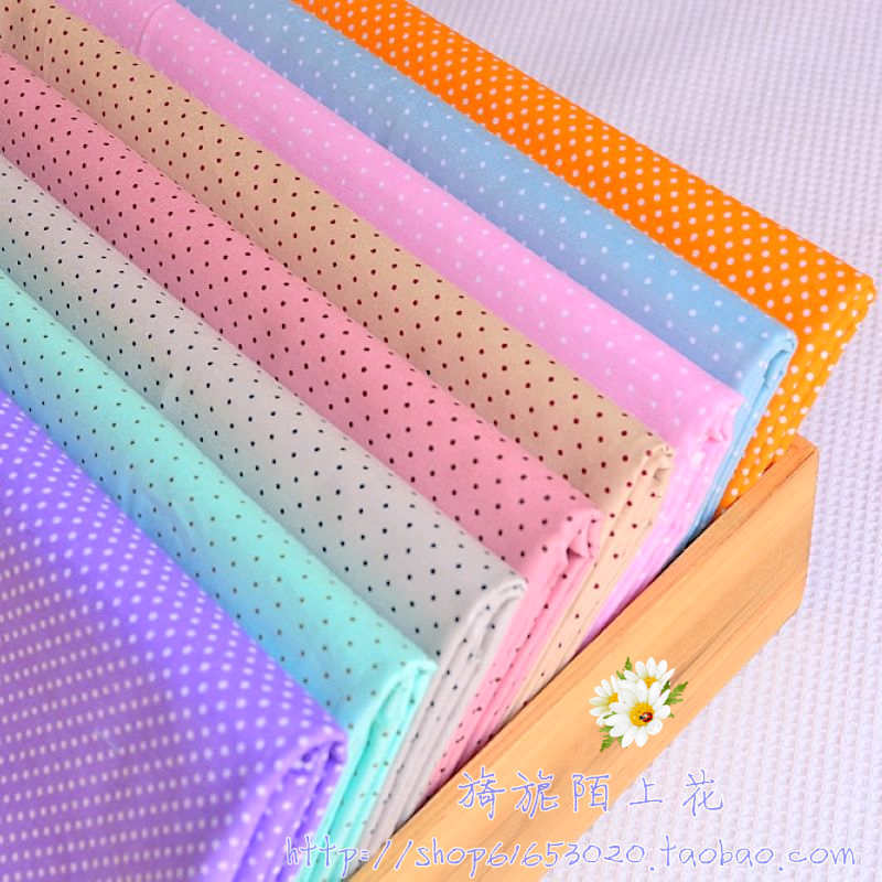 8 colors 50cm*50cm Mini Polka dot 100% cotton fabric for patchwork home textile quilting material cloth for sewing tilda(China (Mainland))