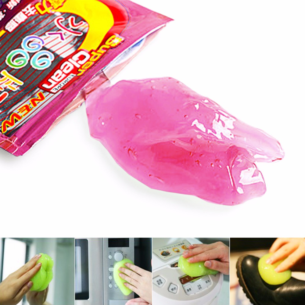 Dust Cleaner Tool High-Tech Magic Sticky Jelly Compound Super Clean Slimy Gel Cleaner Computer car PC Laptop Keyboard Dust Wiper(China (Mainland))