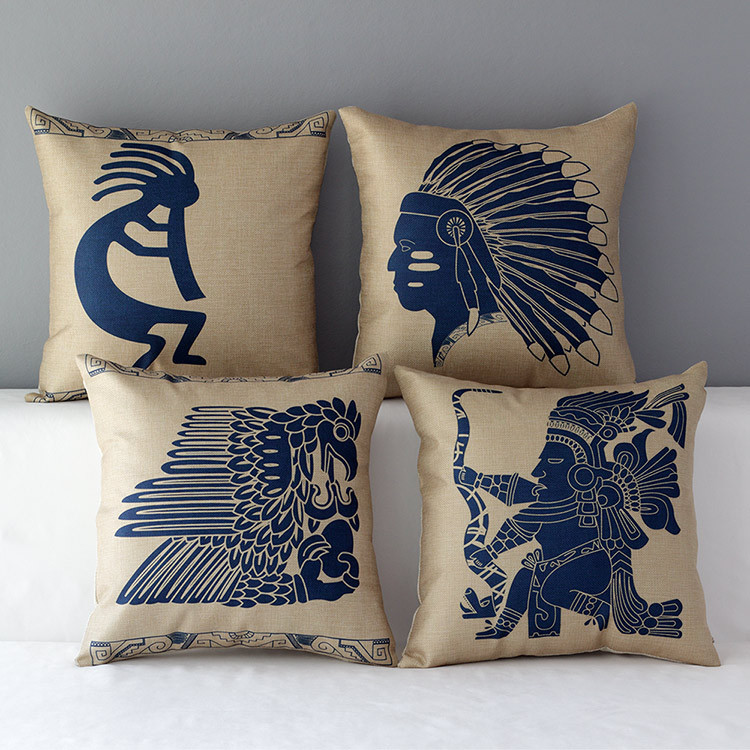 Indian pillow cover, Native American Indian Snake eagle hawk throw pillow case pillowcase ...