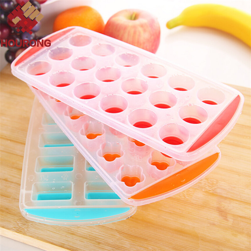 2016 Hot Sale 1 Pcs Lips Dots Rectangular Ice Mold Ice Cube Tray Ice-making Box Molds For Bar Party Kitchen Tools(China (Mainland))