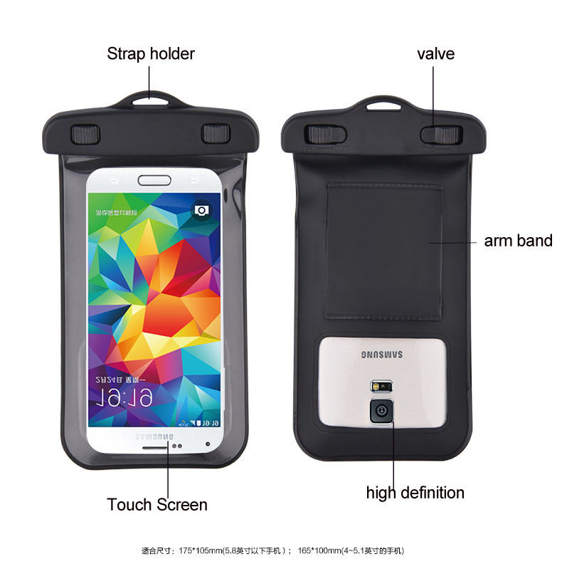 Wholesale Amazing!5.8'' Cell phone durable pouch waterproof handlebar bag case waterproof bag case cover swimming beach pouch