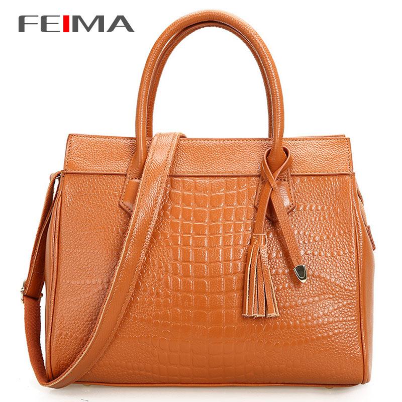 2014 New Fashion women handbag brief crocodile pattern shoulder bags women messenger bags women Genuine leather handbags bag