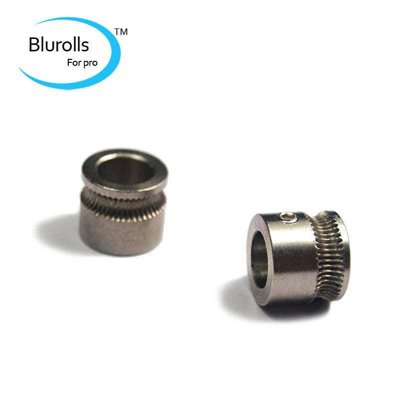 3d printer parts makerbot reprap mendel diy MK7 extruder drive gear hobbed gear 8mm bore stainless