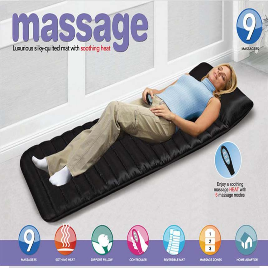 Household foldable Massage Mattress Sleep Beauty Spa Heating Vibrating Head Neck Leg Massager Bed Cushion Massage Therapy Mat(China (Mainland))
