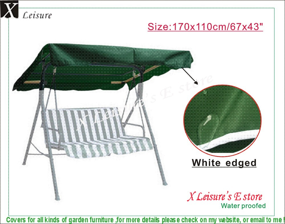 """Replacement Canopy(Only a Roof) 67""""x43""""/170x110cm ,All Weather canopy fpr Outdoor Swing, Porch Patio Seat top/Roof - Dark Green(China (Mainland))"""