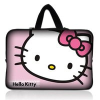 """Hello kitty 14"""" 14.1"""" Neoprene Laptop Carrying Bag Sleeve Case Cover Holder+Hide Handle For Dell Alienware M14x(China (Mainland))"""